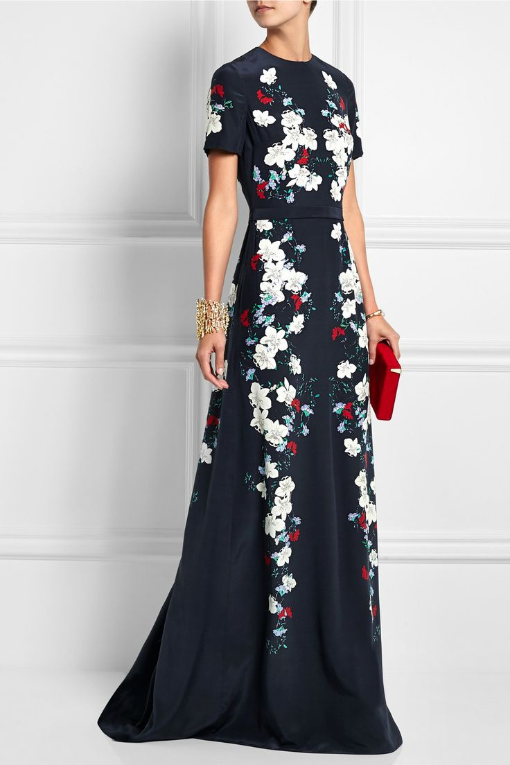 Erdem|Samira floral-print silk-crepe gown|NET-A-PORTER.COM