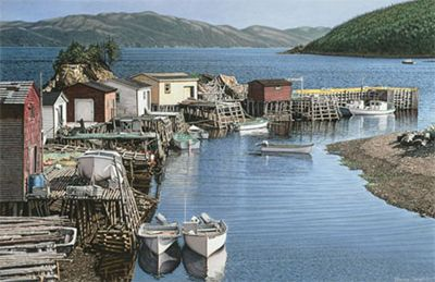 """Evening in Parker's Cove""  Placentia Bay  Terence Crawford"