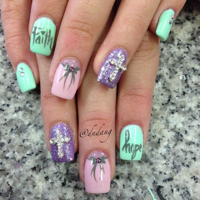 Best 25 cross nail designs ideas on pinterest easy diy nails easter nail art designs have been showcased by many websites this year in various shades and styles but the ones that we are about to prinsesfo Gallery