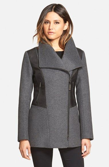Mackage Wide Collar Wool Blend Coat available at #Nordstrom