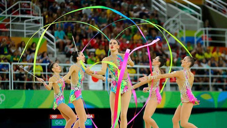 Río 2016. Gimnasia rítmica | El equipo español de rítmica, segundo tras la primera rotación