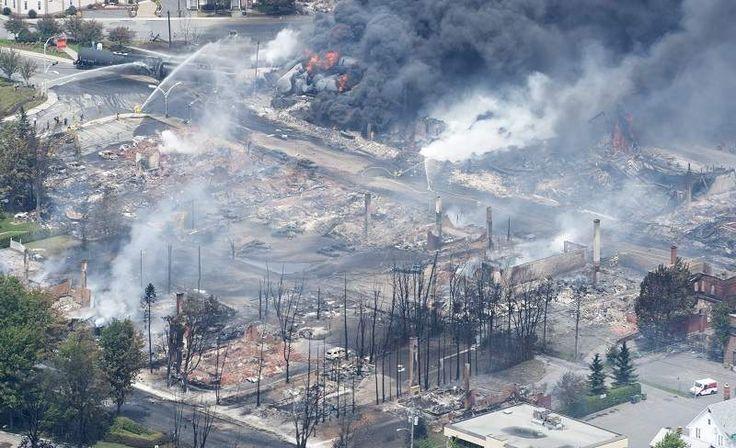 Five dead in Quebec derailment; PBF #Energy hauling same #TarSands #Oil to #Delaware