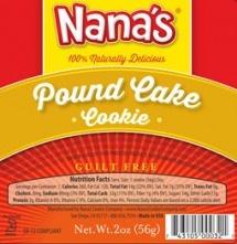 Pound Cake | Nana's Cookie Company /Section / Products / Cookies / Nana's Next Generation Cookies / Pound Cake
