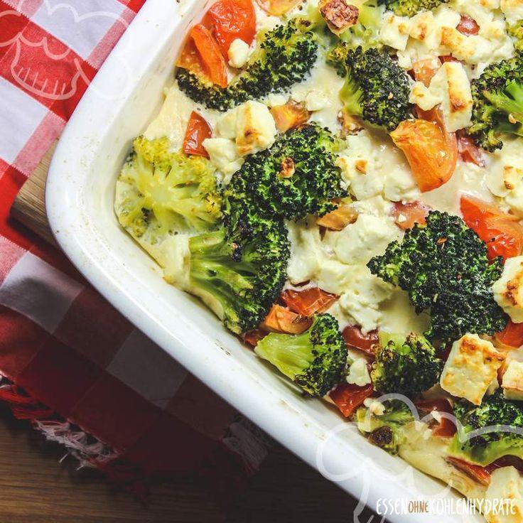 ½ Brokkoli-Feta-Auflauf – 😍 Low-Carb-Rezepte – Lebensmittel ohne Kohlenhydrate   – Kochen