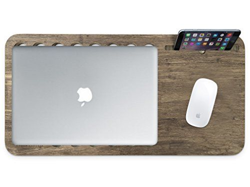 Slate 2.0 Mobile LapDesk - The Essential Laptop Accessory for Students, Professionals, Designers, and Gamers (With Desk Space, For 15 inch Laptops, Limited Walnut Bamboo).