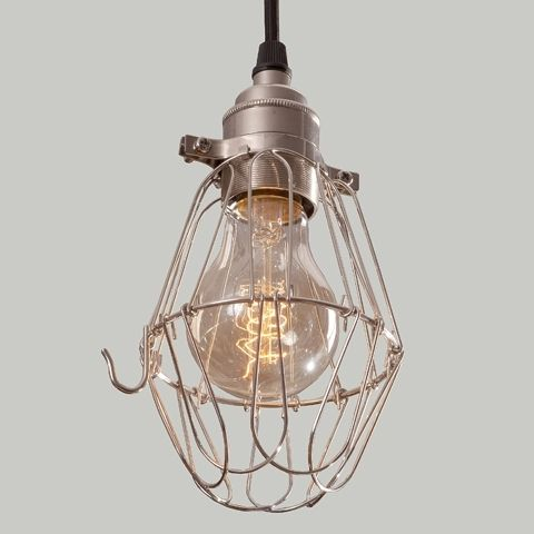 Lampa Cage Silver Flower