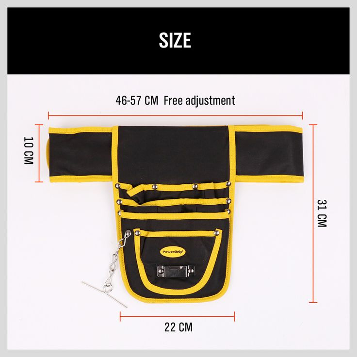 8 Pockets Multiul Foldable Belt Waist Tool Belt Bouch Storage Bag Waterproof Oxford Tool Bag Electrician Tools AD1030