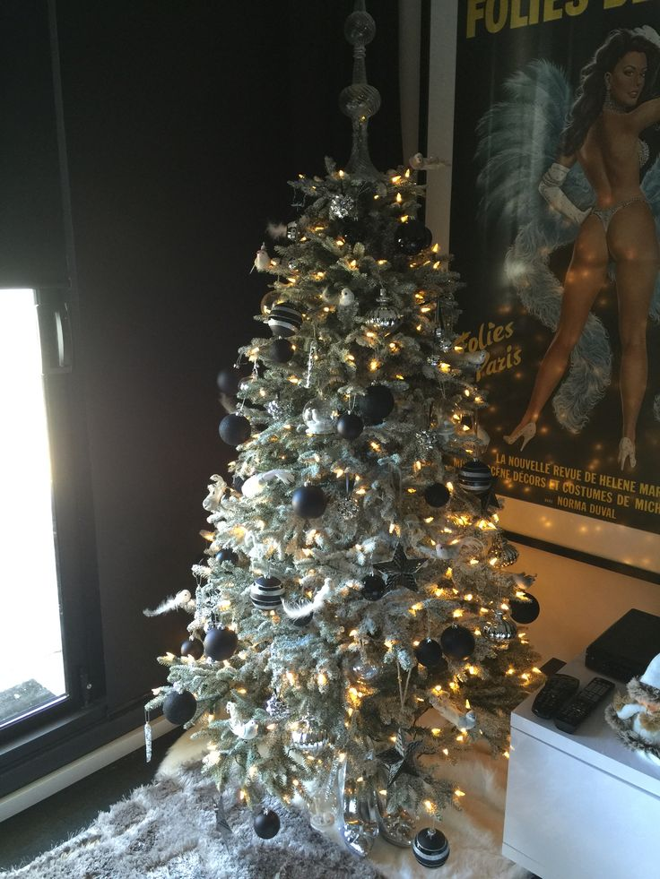 Black and silver Christmas tree