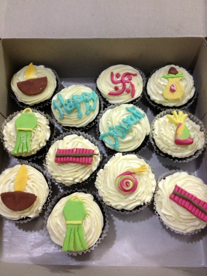 Apple Decorated Cupcakes