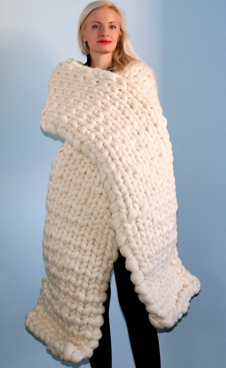 4 5 kg knitted merino scarf ivory mega thick heavy