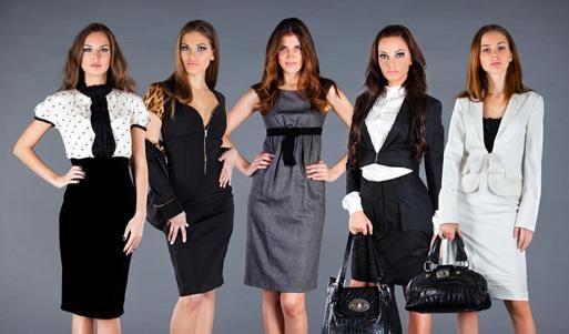 Дизайн предложение женского делового костюма