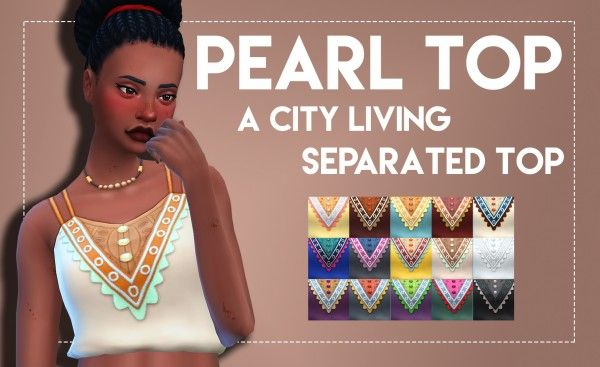 Simsworkshop: Pearl Top - City Living Separated Top • Sims 4 Downloads