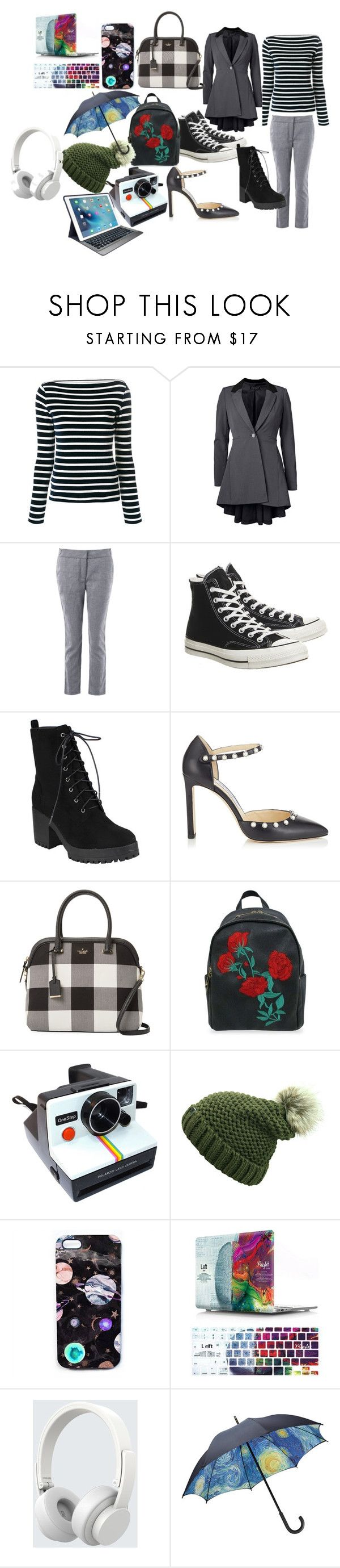 """My First Post"" by darkheart04 ❤ liked on Polyvore featuring Faith Connexion, Venus, Converse, Jimmy Choo, Kate Spade, Polaroid, Nikki Strange, Logitech, Urbanista and plus size clothing"