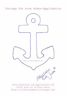 Anker Applikation / anchor appliqué / Anleitung Applizieren / Instruction How to applique
