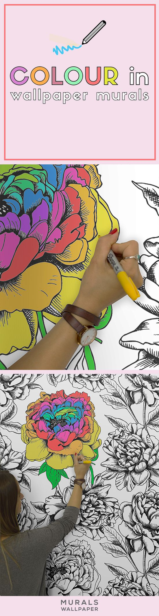 The wallpaper coloring book - This Charming Wallpaper Design Is Both Beautiful And Fun