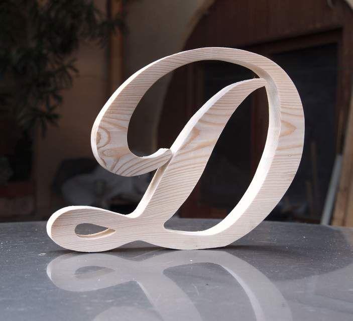 Lettere in legno di pino di grandi dimensioni (leggi) 2