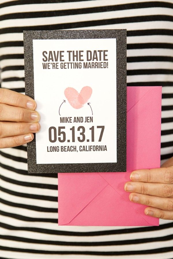 1915 best creative wedding details images on pinterest wedding thumbprint save the date with free printable junglespirit Images
