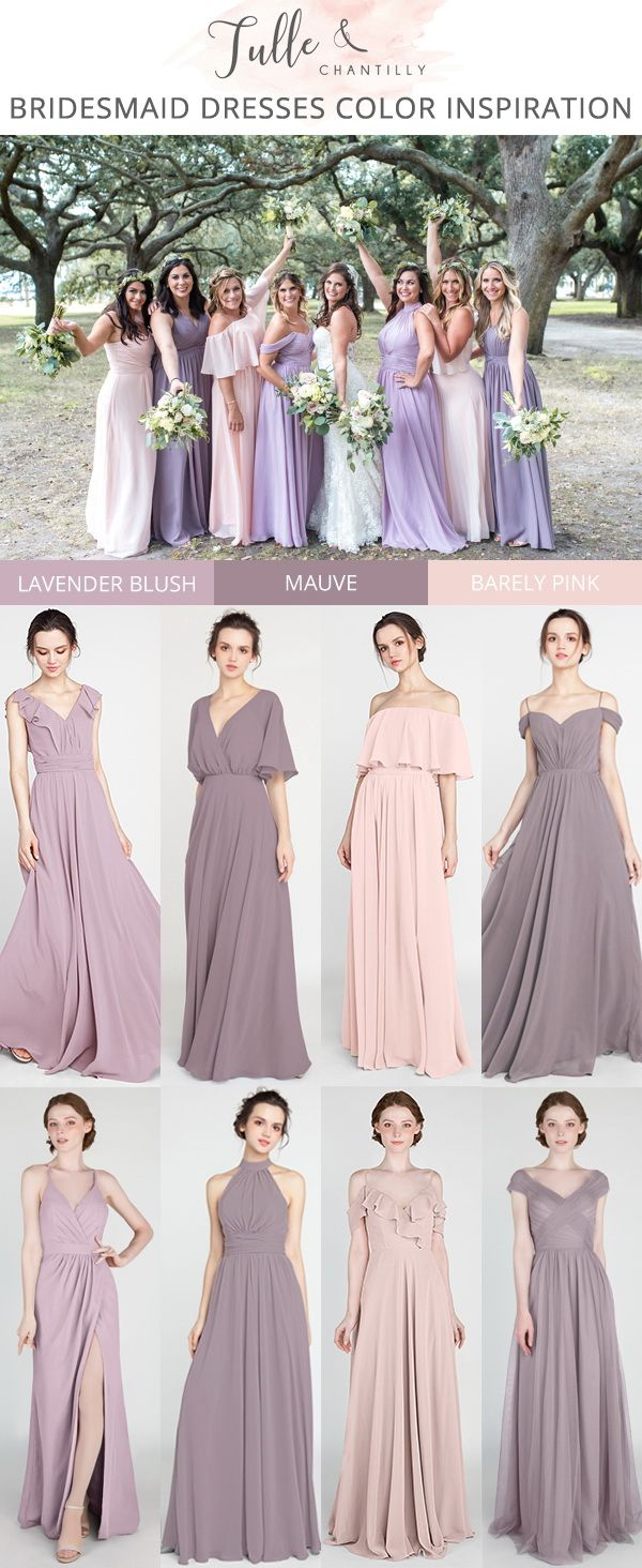 Shades Of Purple And Pink Bridesmaid Dresses 2019 Mauve Bridesmaid Dresses Lav Lavender Bridesmaid Dresses Pink Bridesmaid Dresses Wedding Bridesmaid Dresses