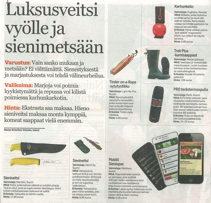 Sieniveitsi vyölle ja sienimetsään! https://www.heirol.fi/  Pohjalainen 26.7.2013