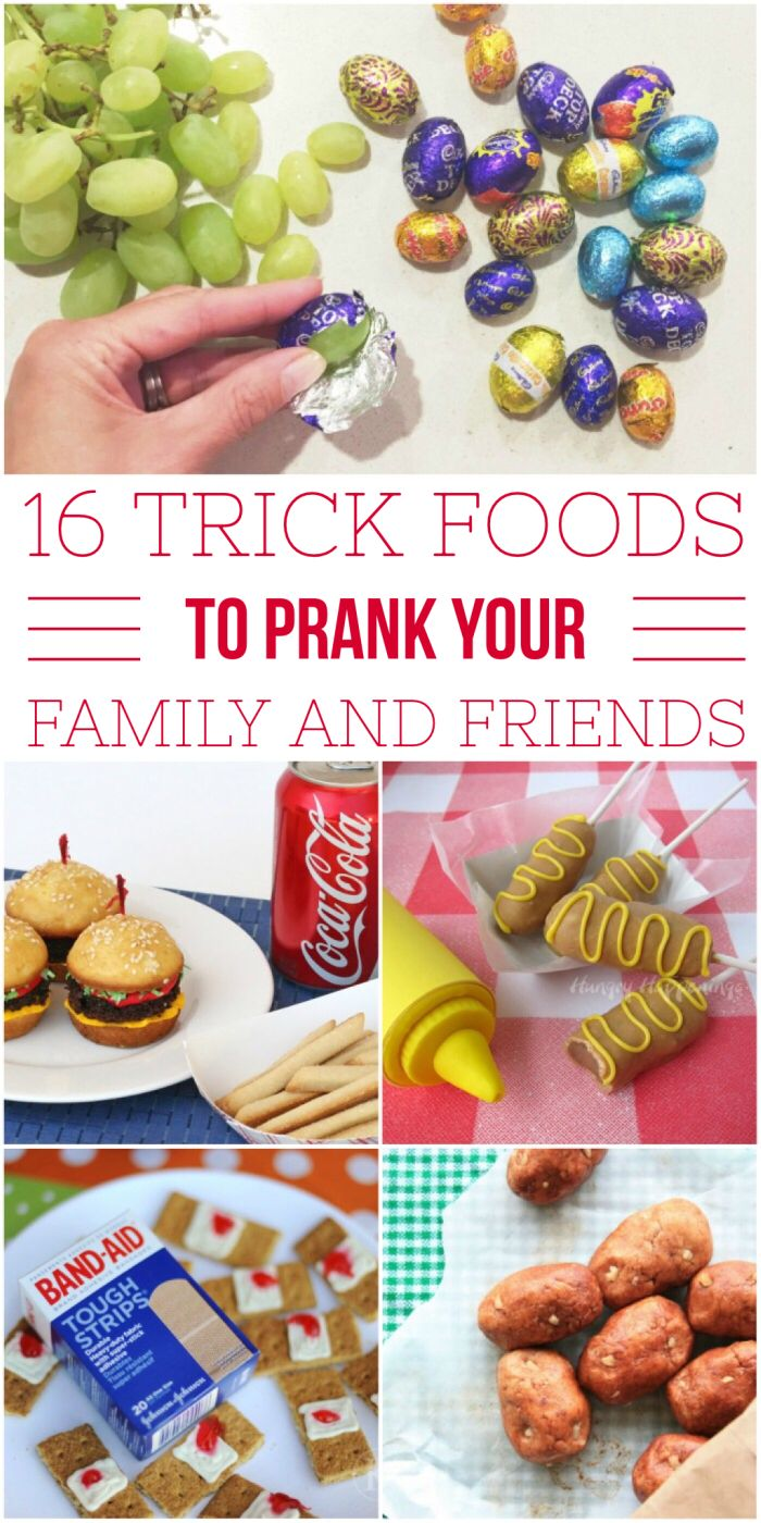 I've been trying to find new ways to prank my family and friends and these food pranks are just the ticket. (I especially love #2) Surprise your family with these fun food tricks.