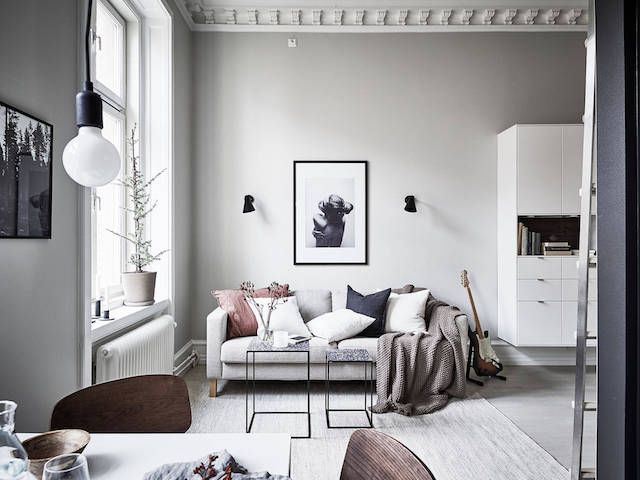 Beautiful Swedish studio where a little goes a long way