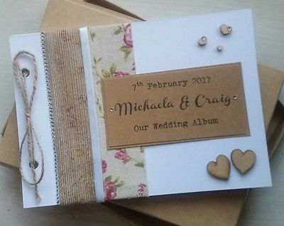 A5 Luxury Shabby Chic Vintage Diamante Wedding Guestbook/Planner/Album