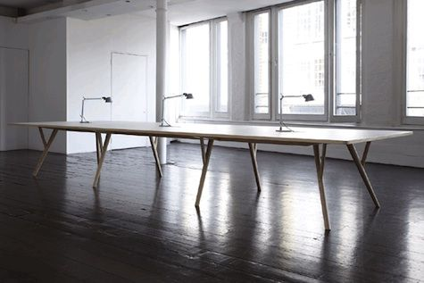 """Extra long table. """"Peggy Table"""""""