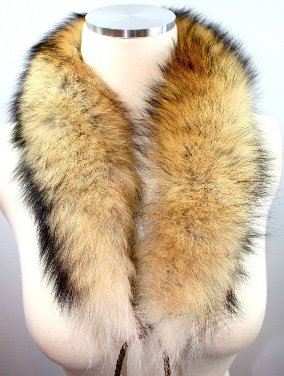 Real Brown/Red Fox Fur Shawl Tail Scarf Collar Cape by KTZSTORE, $150.00
