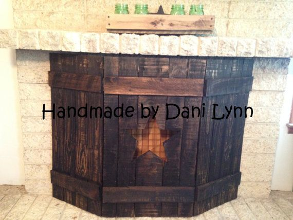 Hey, I found this really awesome Etsy listing at https://www.etsy.com/listing/234188292/rustic-wooden-fireplace-screens