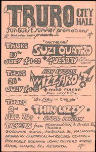 Suzi Quatro, Wizzard, Thin Lizzy City Hall Truro, UK 1973