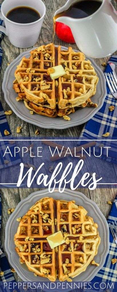 Apple Walnut Muffins | Peppers and Pennies