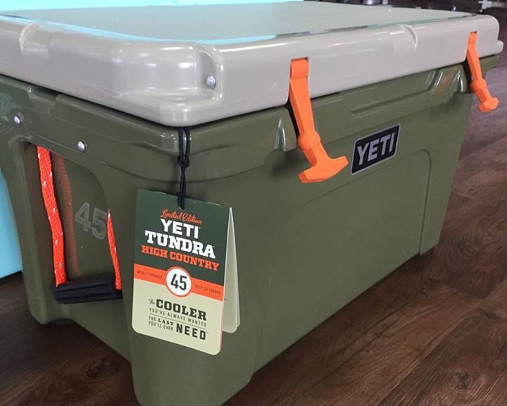 In stock and ready the Limited Edition High Country Yeti Tundra.  Available in the 45 and 105qts.  $349 and $479 the same price as the standard colors.  Get them while they last only a couple in stock. #sodium #sodiumfishinggear #yeti #tundra #highcountry #builtforthewild #bearresistant #outdoors #fishing #hunting #boating #outdoors, #campinggear, #fishinggear, #ClimbingGear