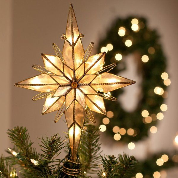 multi point bethlehem star tree topperamazonhome kitchen - Christmas Tree Star