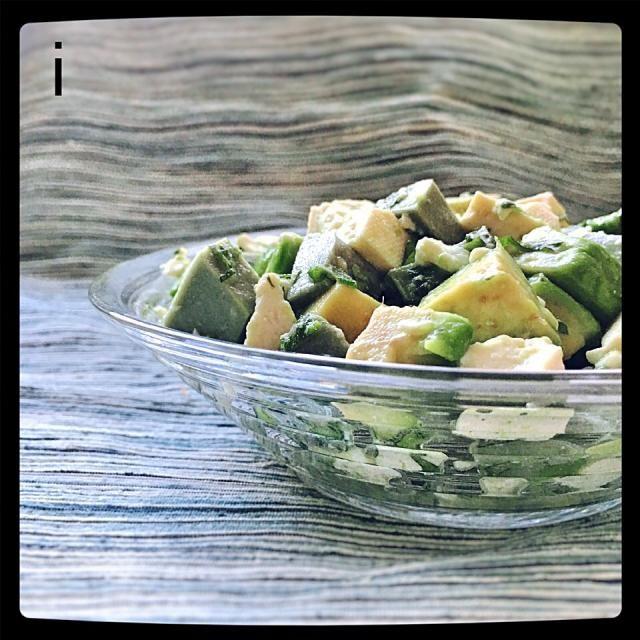 生麩・アボカド・豆腐のヘルシーサラダ 【Healthy salad / Tansy wheat starch, avocado and tofu】 by izoom at 2016-06-29