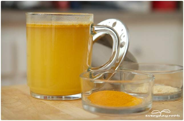Arthritis & Joint Pain Turmeric & Ginger Tea  Serves: 2 servings Ingredients 2 cups of water ½ teaspoon ground ginger ½ teaspoon ground turmeric Honey to taste Instructions Bring 2 cups of water to a boil, and had ½ teaspoon each ground ginger and ground turmeric. Reduce to a simmer and let it be for 10-15 minutes. Strain, add honey to taste, and enjoy twice daily.