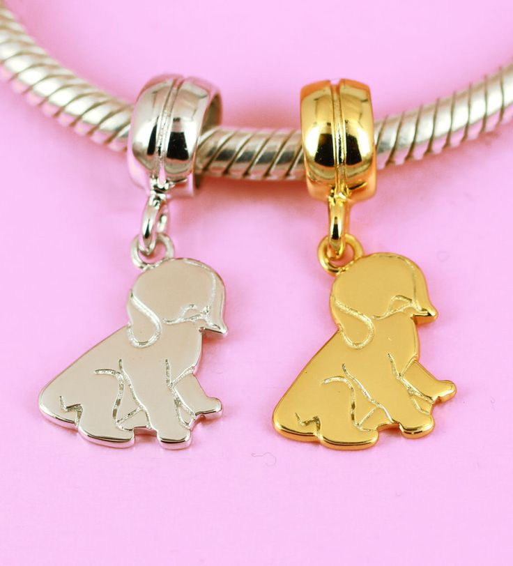 SOLID 925 Sterling Silver Cute Dog Puppy Animal Pet Charm Bead Fit Bracelet AUS