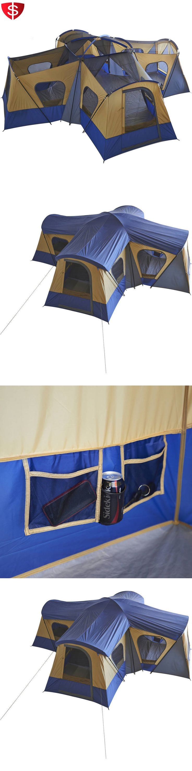 Tents 179010: 14 Person Ozark Trail 4 Room Cabin Base Camp Family Shelter Tent Outdoor Camping BUY IT NOW ONLY: $266.29