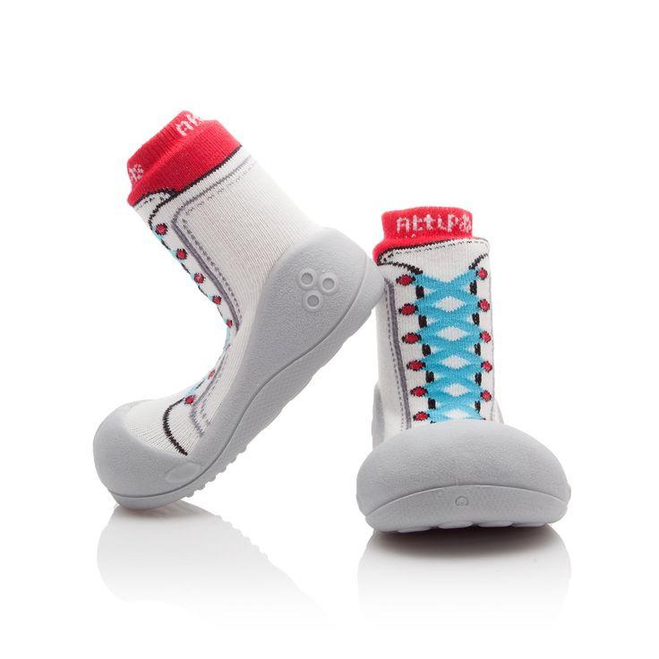Buciki do nauki chodzenia dla niemowlaków Attipas New Sneakers Red