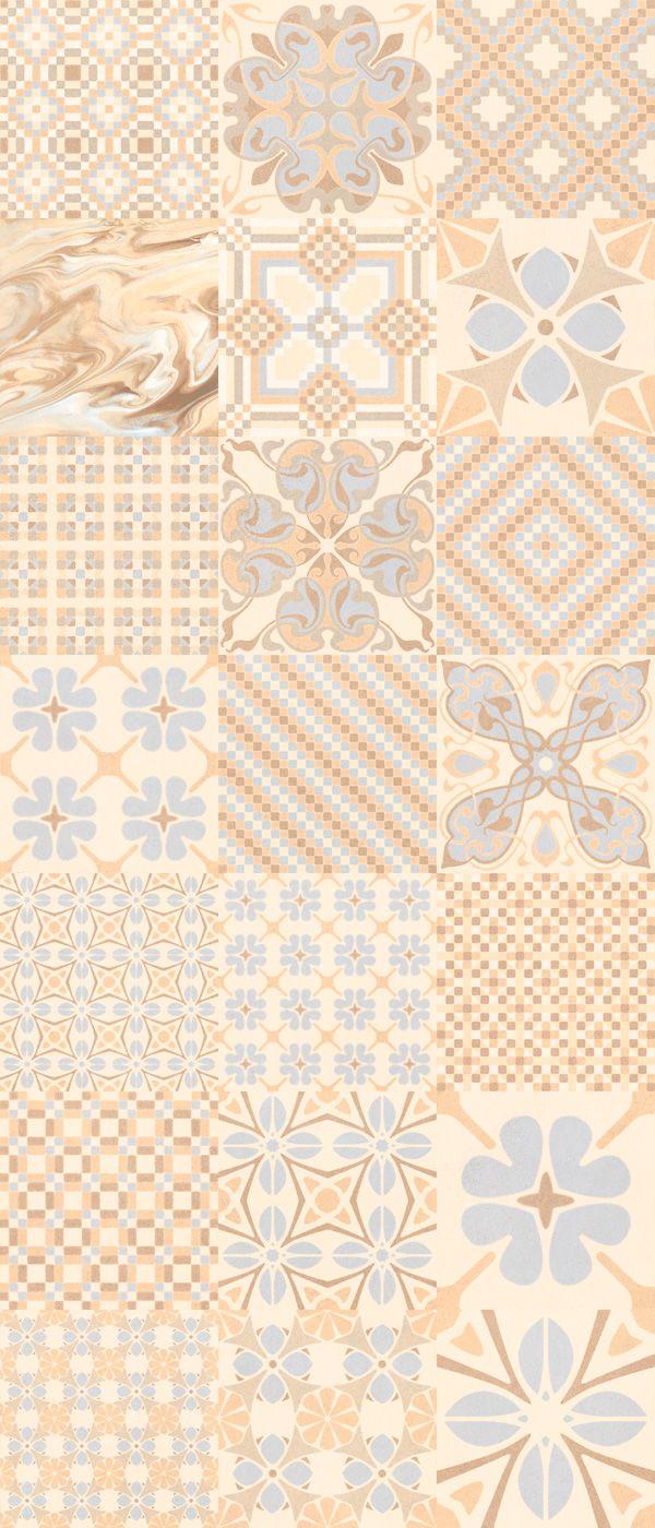 #floor #tile: Tassel Crema 20x20 cm. 1900 series