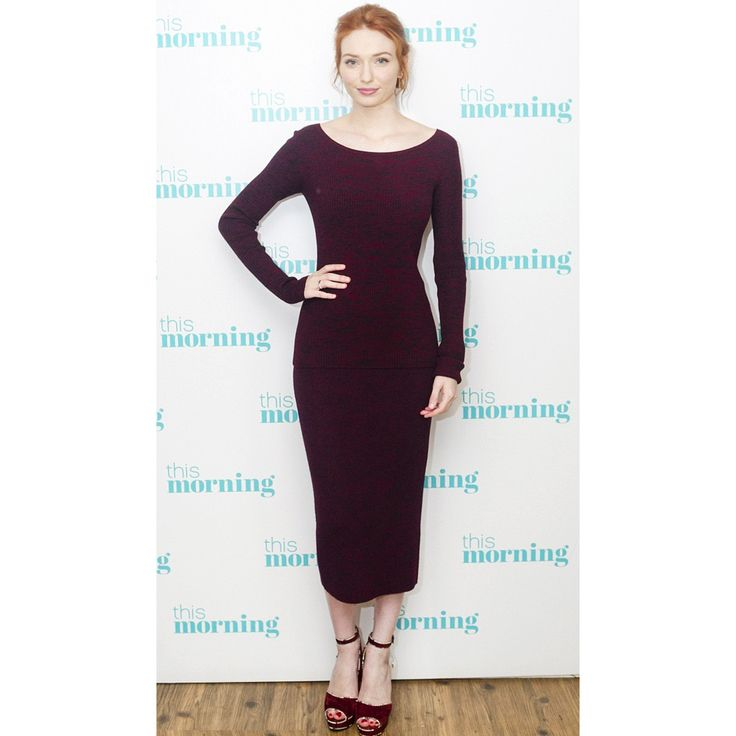 Actress Eleanor Tomilson wears Fall Winter 2016 JAX skirt and MYTHE jumper for UK This Morning