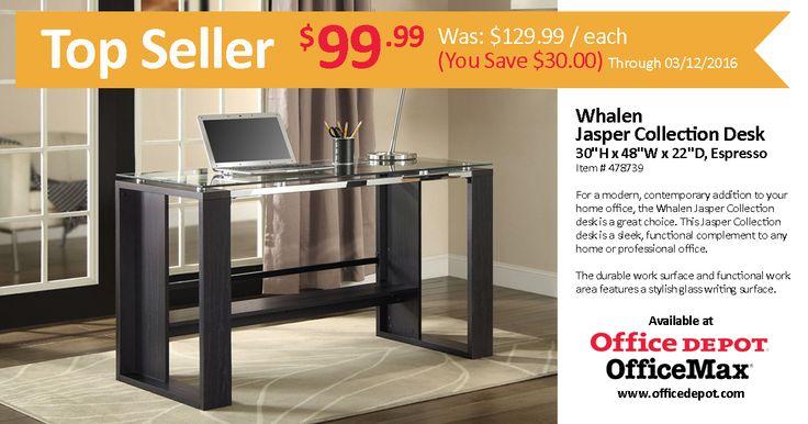 Whalen Jasper Collection Desk Espresso Whalen Jasper