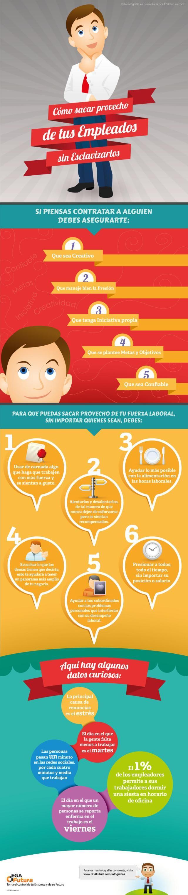 Cómo sacar provecho de tus empleados (sin esclavizarlos) #infografia #infographic #rrhh