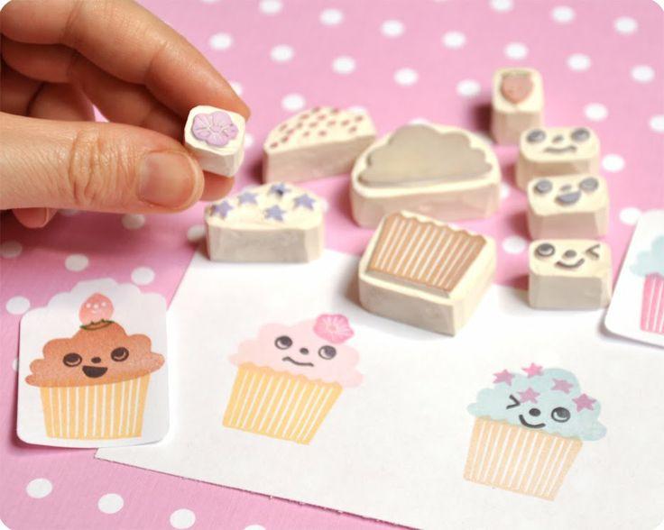 Unos sellos de goma muuuuy dulces ;) #diy #cupcake