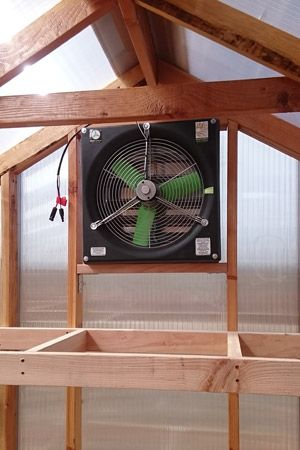 Solar Powered Greenhouse Fan. #snapfans #greenhousefans #solarfans