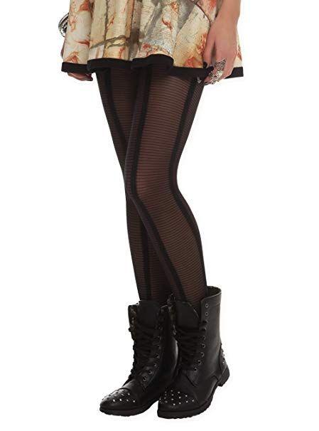 65da09a598a24 LOVEsick Sheer Black Stripe Tights Size : Small / Medium | Best ...