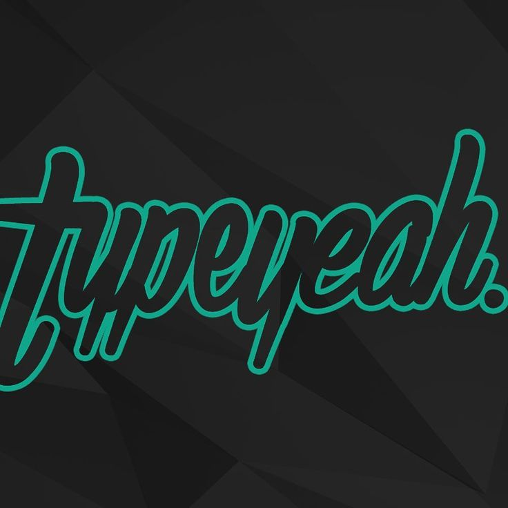 Typeyeah. has a new #typeyeahtuesdays 2016 lettering challenge for the community. Simply design your best version of the word 'Typeyeah.' and post it to Instagram with the hashtag #typeyeahtuesdays. Each Tuesday a favourite will be selected and featured on the page maybe even some giveaways!