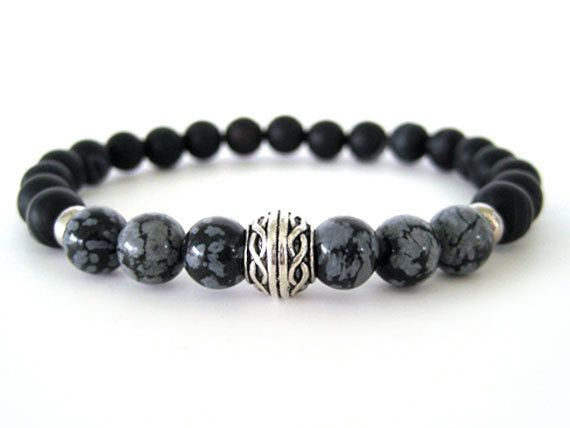 online running shoes store uk Very cool men  39 s beaded stretch bracelet with 8mm black matte agate beads  8mm snowflake obsidian beads and pewter accent beads  The patterns and veining in both the agate and obsidian beads is quite stunning and helps create a unique feel to this masculine bracelet  This is a must have bracelet for any guy that loves to wear jewelry