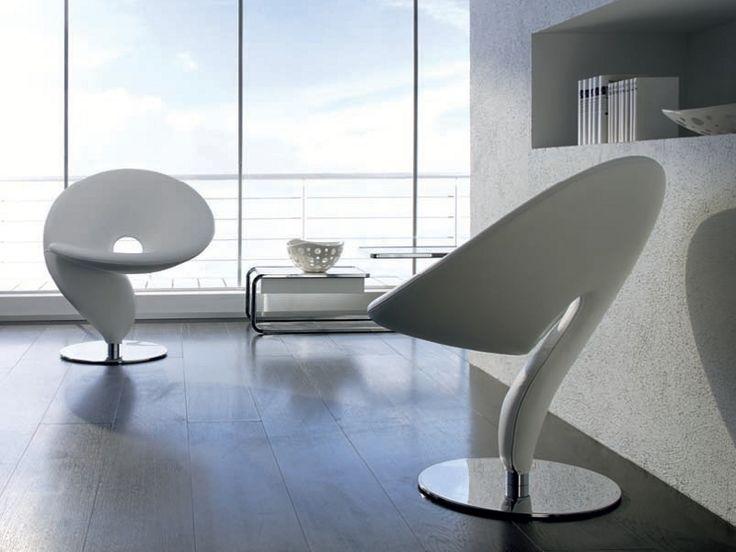 Petit fauteuil pivotant en polyur thane question mark 046 - Petit fauteuil pivotant ...