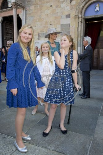 Christening of Prince Carlos de Bourbon de Parme - Princess Amalia, Princess Ariane and Princess Alexia