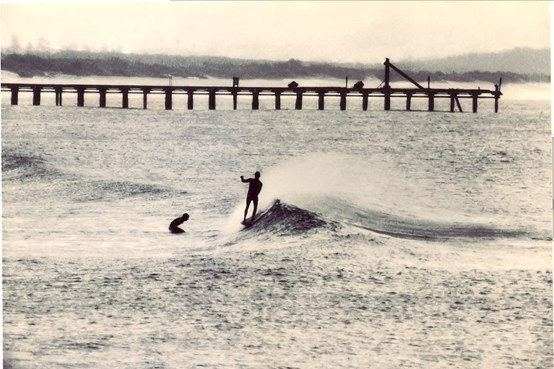 $55.00: Vintage Byron Bay surfing image, from Kirra Pendergast Photography. 16 x 24 (inches) printed on high quality photographic paper.